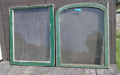 Pair Antique FARM HOUSE Architectural WINDOWS 2 Pane Sash Primitive 1880s Lot C
