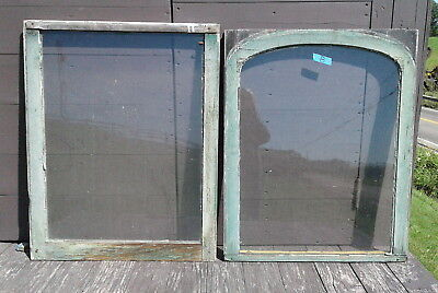 Pair Antique Architectural FARM HOUSE WINDOWS 2 Pane Sash Primitive 1880s Lot B