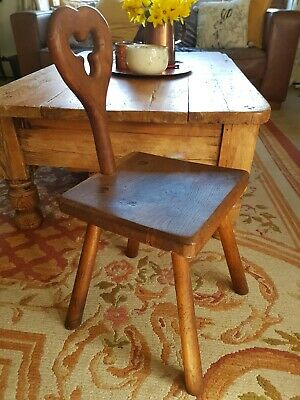 Antique Belgian  Spinning Milking Stool