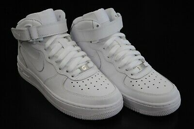 official photos 2c495 cdad5  314195 113  New Kid s Nike Air Force 1 Mid Gs White White Wk1