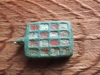 Roman Britain.  Enameled Seal Box Lid.   Rare.   A  Nice Example..