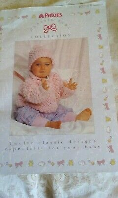 classic baby collection knitting pattern book (patons)