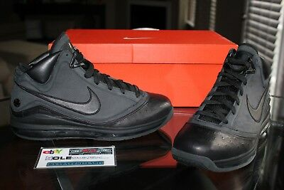huge discount 825d5 9bec3 Deadstock Nike Lebron 7 VII Jay Z All Black Everything ABE PE Sample Size  10.5