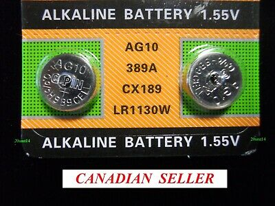Dec 2023!!! 2 pcs AG10 LR54 L1131 LR1130 SR1130 389 390 189... Alkaline Battery