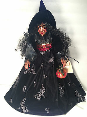 "20"" Handmade Bethany Lynn McCotter Witch Doll Halloween Decoration Polymer Clay"