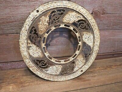 VINTAGE 1800's ANTIQUE Iron Ornate Ceiling Grate Register Heat Vent!