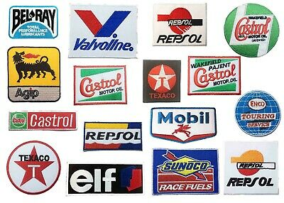 1 Pcs Motor Petrol Gas Oil Fuel Racing Car Auto Sew Iron On Embroidered Patch