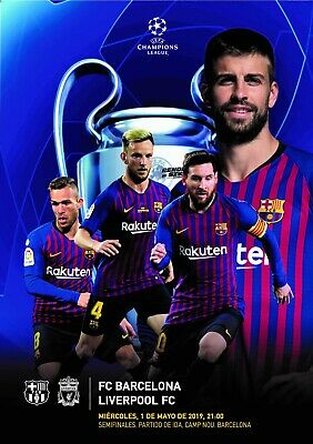 Programme Barcelona v Liverpool 2019 Champions League. Unofficial