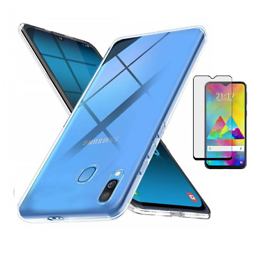 Funda Samsung Galaxy A40 (5.89) TPU GEL SILICONA LISA + CRISTAL FULL GLUE 5D