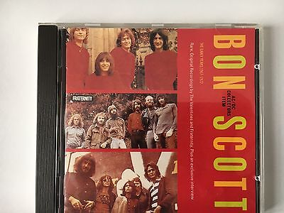 BON SCOTT THE EARLY YEARS 1967-1972 RARE    from ac/dc
