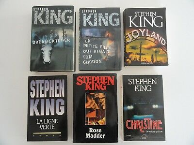 Lot de 6 livres Stephen King - Grand Format (Qté modifiable)