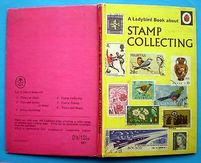 Stamp Collecting Ladybird vintage book hobbies history watermarks UK foreign'