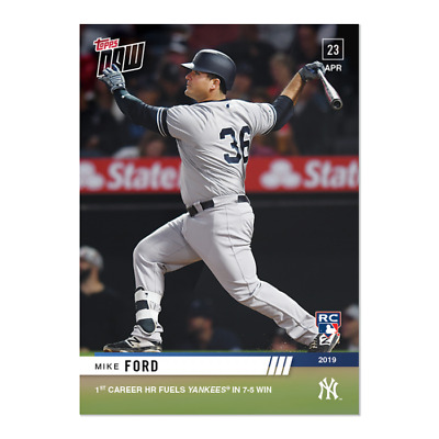 2019 Topps NOW 128 Mike Ford RC New York Yankees [4.23.19]