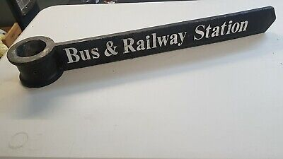 Large Reclaimed Cast Iron Victorian Style Sign Bus And Railway