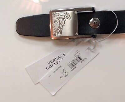 87f92c33b65 Versace Collection Medusa Leather Belt MADE IN ITALY Men Black Size 38   110cm