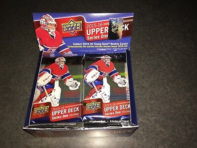 UPPER DECK 2015-16 SERIES 1 HOCKEY 24 RETAIL PACKS W/ BOX - McDAVID YOUNG GUNS??