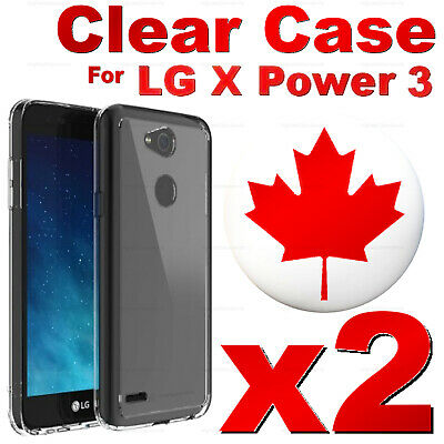 For LG X Power 3 - Superior Clear Soft Transparent TPU Cover Case (2 PACK)