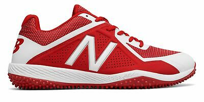 c1e996b81b9 New Balance Low-Cut 4040V4 Turf Baseball Cleat Mens Shoes Red With White