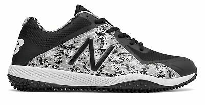 7d070205a New Balance Low-Cut 4040V4 Turf Baseball Cleat Mens Shoes Black With White