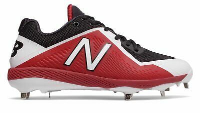 New Balance Low-Cut 4040V4 Metal Baseball Cleat Mens Shoes Black With Red