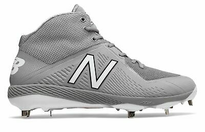 New Balance Mid-Cut 4040v4 Metal Baseball Cleat Mens Shoes Grey