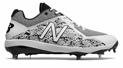 New Balance Low-Cut 4040v4 Pedroia Metal Baseball Cleat Mens Shoes White with