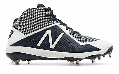 New Balance Mid-Cut 4040v4 Metal Baseball Cleat Mens Shoes Navy with White Size