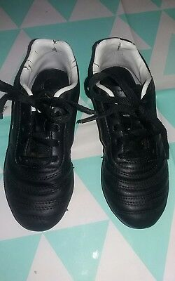 36aa0faae5a9 Used boys sondico black/white football boots. size 1 from sports direct.