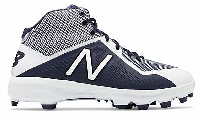 c6f5d96831a8c New Balance Mid-Cut 4040V4 Tpu Baseball Cleat Mens Shoes Navy With White