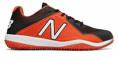 90a852192210d New Balance Low-Cut 4040V4 Turf Baseball Cleat Mens Shoes Orange With Black