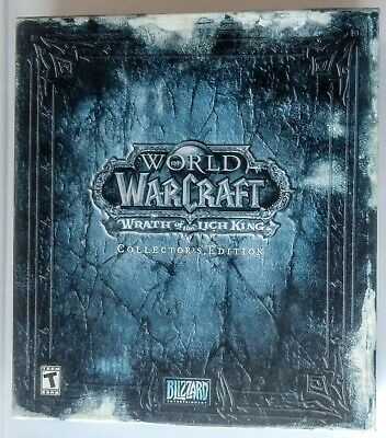 World of Warcraft Wrath the Lich King Collector's Edition Box Mouse Pad & Cards