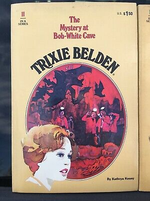 TRIXIE BELDEN #11 The Mystery At Bob-White Cave PB Kathryn Kenny GOLDEN OVAL