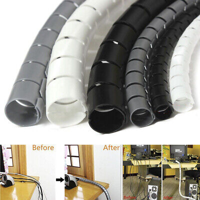 2M Cable Hide Wrap Tube 10/25mm Organizer&Management Wire Spiral Flexible CordPN