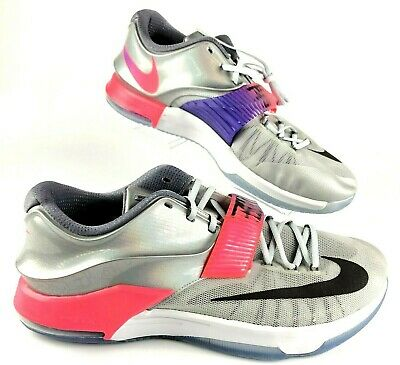 new arrival cb25a 07617 Nike KD 7 VII AS Size 16 Pure Platinum Multi-Color 742548 090 NIB Kevin