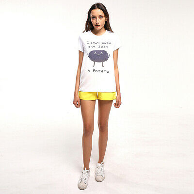 Ladies Simple Summer T-Shirt Short Sleeve Round Neck Letter Printing Tops G