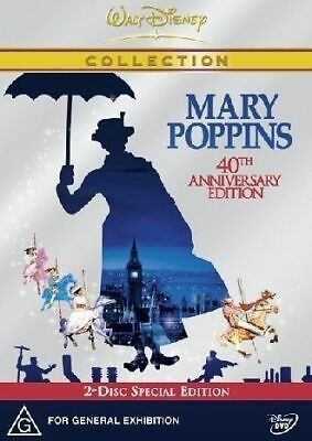 Disney's Mary Poppins Dvd=40Th Ann Edition=2 Disc Set=Region 4=New And Sealed