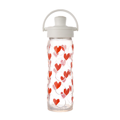 Lifefactory 16oz Glass Bottle with Active Flip Top Cap, Silicone Sleeve Tru Luv