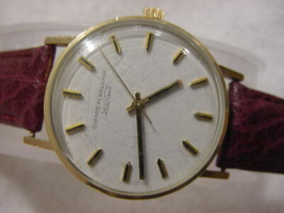 Vintage GOLD FD large antique Art Deco / Diver GIRARD PERREGAUX SEA HAWK watch