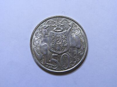1966 50c AUSTRALIAN ROUND FIFTY CENT COIN **80% Silver** UNCIRCULATED (HD62.2)