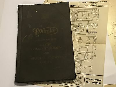 DAIMLER 2.5 Litre CONSORT SALOON & SPECIAL-SPORTS COUPE OWNERS HANDBOOK MANUAL