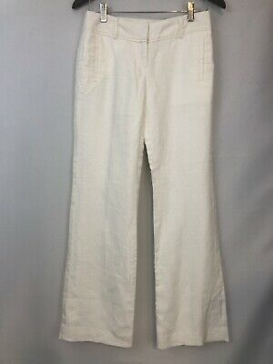 Clothing, Shoes & Accessories Pants Loft Pink Size 0 100% Linen Marisa Pants Trousers Lightweight Summer Career