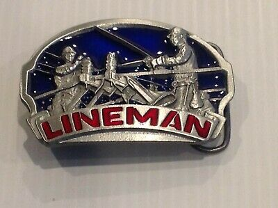 Lineman belt buckle.vintage 1993
