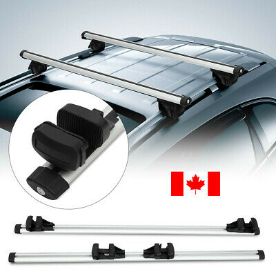 "2x47"" Roof Rack Aluminum Alloy CrossBar Cross Bar For Car With Raised Rail Pair"