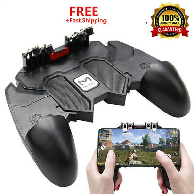 AK66 Six Finger Mobile Game Controller Fire Key Button Gamepad Trigger for PUBG