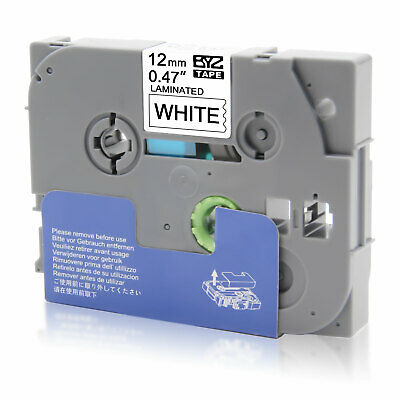"""1PK Label Tapes TZ231 TZe231 12mm 0.47"""" Black/White for Brother P-Touch PT-D600"""