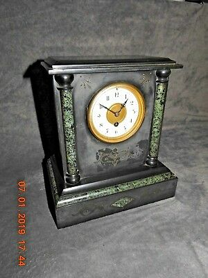 maple & co limited Paris slate marble clock