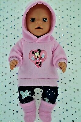 "Play n Wear Doll Clothes To Fit 17"" Baby Born PINK HOODIE~LEGGINGS~BOOTS"