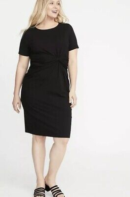 OLD NAVY PLUS Size Twist-Front Bodycon Dress Size 1X- Black ...