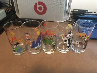 5 X Looney Tunes Glasses | Ixl Collectables | Y2K Year 2000