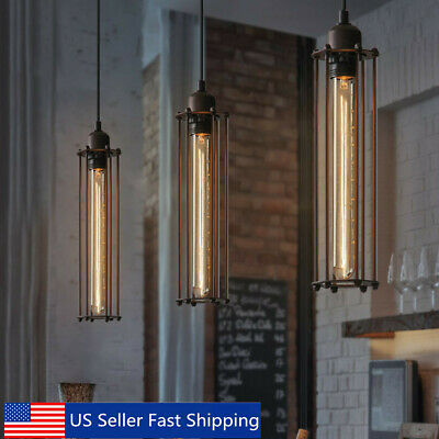 Retro Industrial Vintage Flute Pendant Lamp Kitchen Bar Hanging Ceiling Light